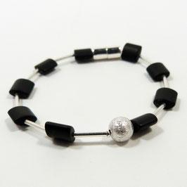 ONYX Armband Silber