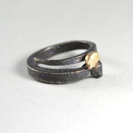 HALLELUYA Ring schwarz Gold 585