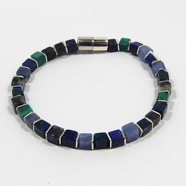 BUNTE KETTE Armband blau