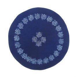 Tischdecke rund, 60 cm, Indigo, Design: M 169