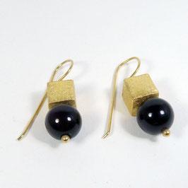 Ohrhänger Onyx Gold