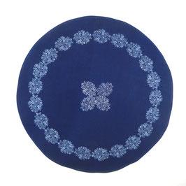 Tischdecke rund, 80 cm, Indigo, Design: M 98