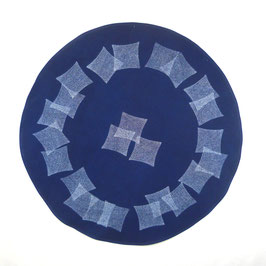 Tischdecke rund, 80 cm, Indigo, Design: 173