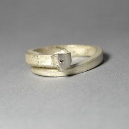 HALLELUYA Ring weiß Brilliant