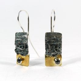 Ohrhänger schwarzer Diamant