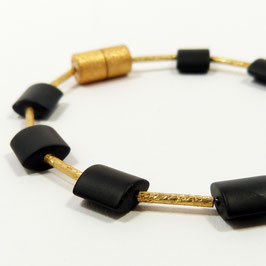 ONYX Armband gold
