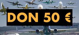 DON 50 € DEDUCTIBLE IMPOTS REVENU 2020