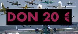 DON 20 € DEDUCTIBLE IMPOTS REVENUS 2020