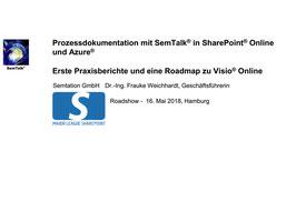 Prozessdokumentation mit SemTalk® in SharePoint® Online und Azure®