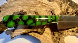 Gift Grün Schwarzes Küchenmesser im Japan Style.