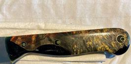 Kleines Küchen Messer Birke gefärbt und Anthrazit Epoxi