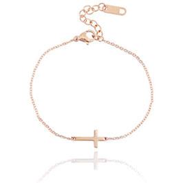 Armband Kreuz roségold