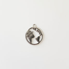 Weltkarte Silber