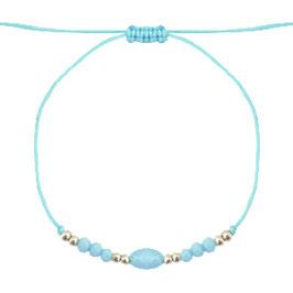 Armband mit Perlen blau-gold