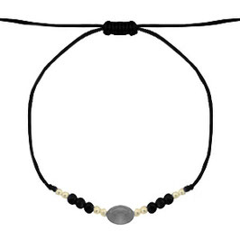 Armband mit Perlen schwarz-gold