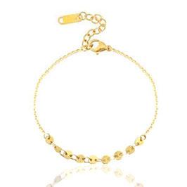 Armband mit Plättchen Gold