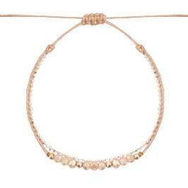 Armband mit Perlen rosé
