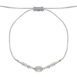 Armband mit Perlen grau-gold