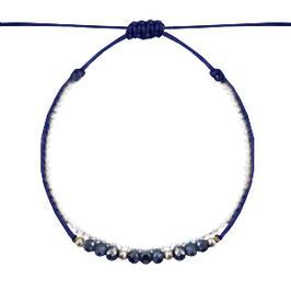 Armband mit Perlen dunkelblau