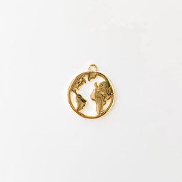 Weltkarte Gold