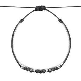 Armband mit Perlen schwarz