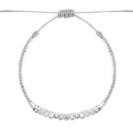 Armband mit Perlen grau