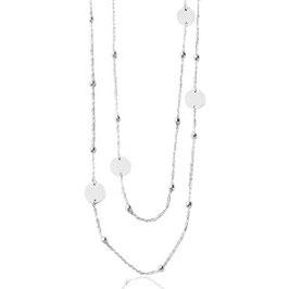 Kugelkette mit Plättchen Silber