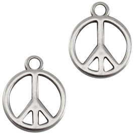 Peace glatt Silber