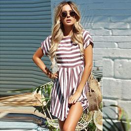 Kleid Kurzarm mit Streifen