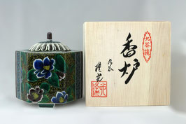 Lư sứ đốt hương Nhật Bản - Rokkaku Yoshidaya Botan Kouro