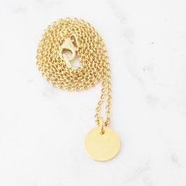 Monogramm Halskette Sterlingsilber | Gelbvergoldet | Ankerkette
