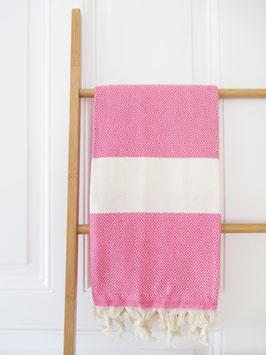 Fouta No.8 Pink | Nach Wahl mit Monogramm