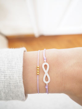Infinity Armband mit CZ Zirkonia Sterlingsilber