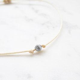 White golden Pearl Fußkettchen | 585 Weißgold Perle