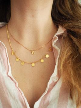 Boho Style Halskette 925er Sterlingsilber | Gold