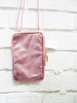 Echtleder Phonebag | Metallisé Effekt mit Abnehmbaren Strap