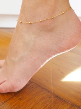 Boho Style Fußkette   925er Sterlingsilber -27cm