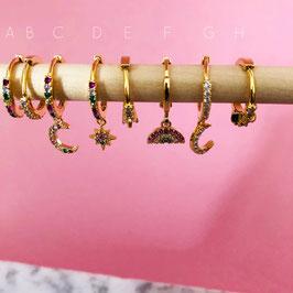Creolen Micro Pave | Kupfer vergoldet  Versilbert