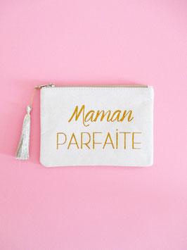 Maman Parfaite Clutch Gold Glitzer