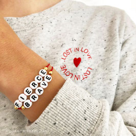 AQUAGEMSCreator Liebes Armband  925er Sterlingsilber/ vergoldet