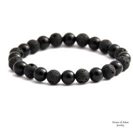 Nothing else black! Armband Onyx & Lava | 8mm