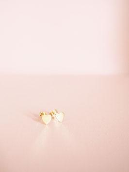Goldene Herzchen Ohrstecker | 585 Gold