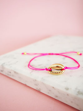 Kaurimuschel Armband Minimal | Sterlingsilber Gelbvergoldet