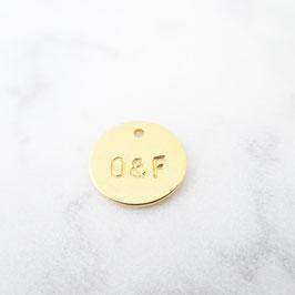 Extra Coin / Herzchenanhänger 925er Sterlingsilber Wahlweise mit vergoldung