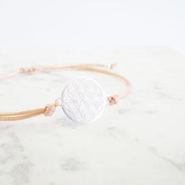 Blume des Lebens Makramée Armband | Sterlingsilber