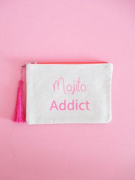 Mojito Addict Clutch Neon Pink Glitzer