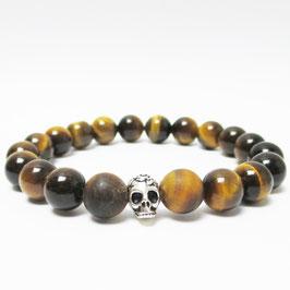 House of Adam Classic Skull Tigerauge Armband | 10mm