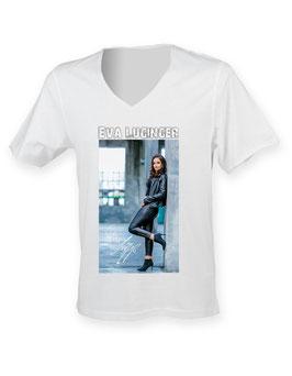 """T-Shirt - Eva Luginger mit Cover """"ROCK EVA"""""""