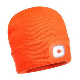 Bonnet LED orange fluo