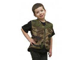Gilet sans manche militaire enfant